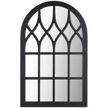 Black Washed Window Mirror Arched Window Mirror Window Mirror Mirror Wall Decor