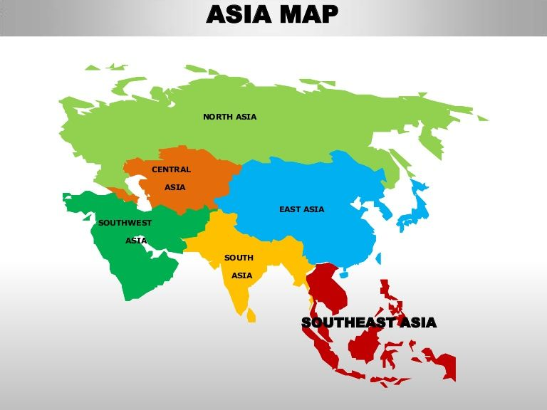 Asia Map North Asia Central Asia East Asiasouthwest Asia Asia