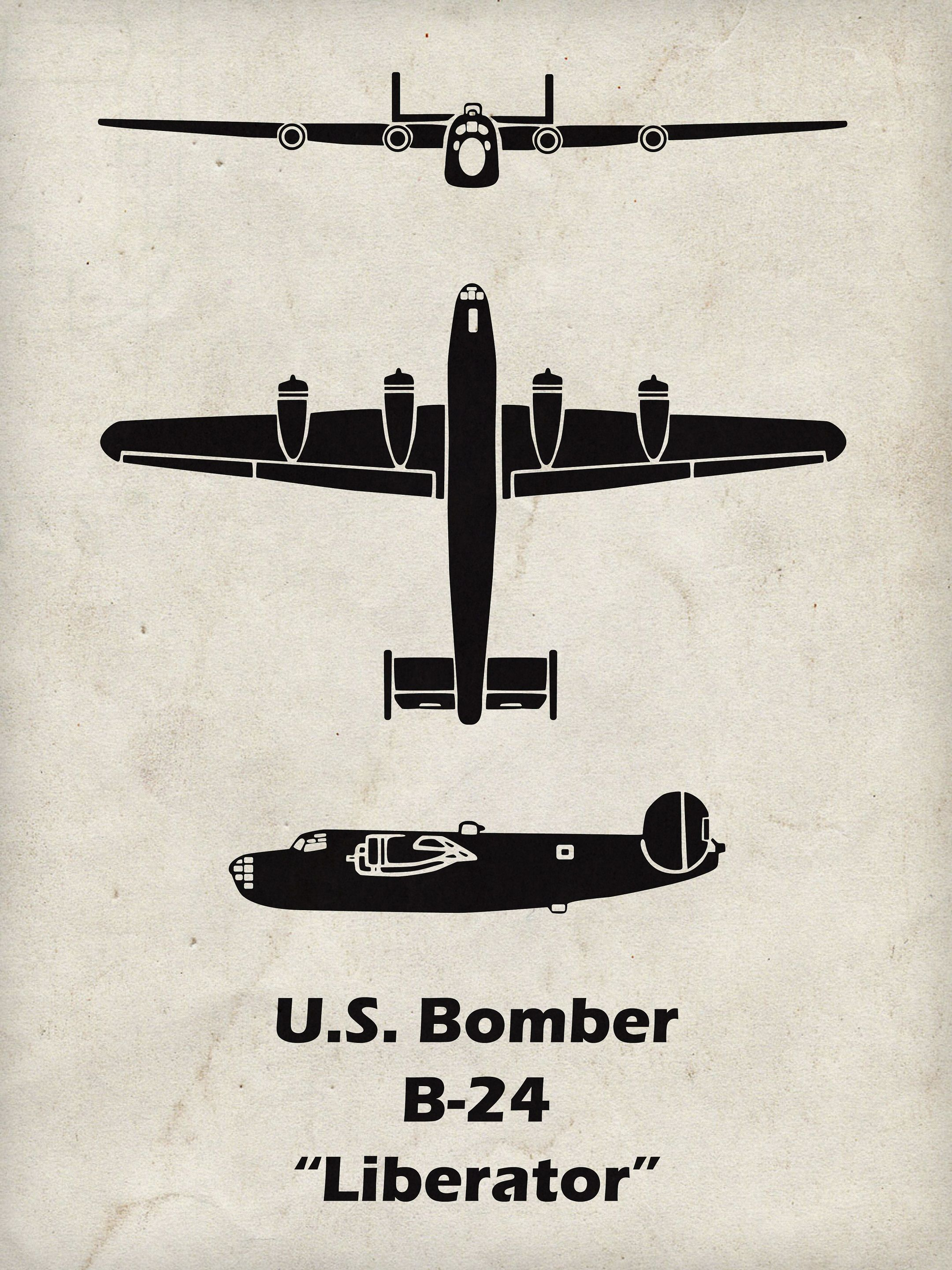 B 24 Liberator Print Aircraft Posters And Diagrams Piston Engines Engine Diagram The Was Manufactured By Consolidated Corporation Originally They Were Asked To Produce 17 However After Two Of Their Employees Spent