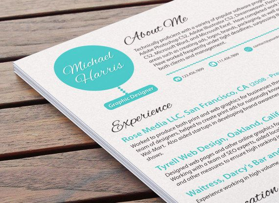 Black Friday Etsy Cyber Monday Etsy Artistic CV by ResumeBaker - how to create perfect resume
