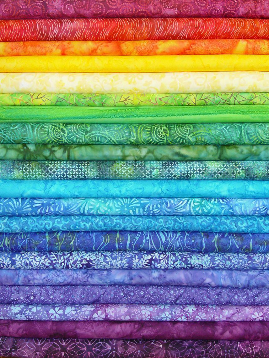 rainbow jelly batik strips batiks in all colors of the rainbow