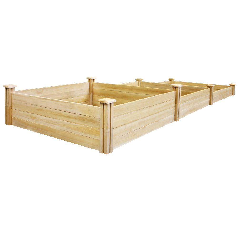 Greenes Fence 4 Ft X 12 Ft Stair Step Original Cedar Raised