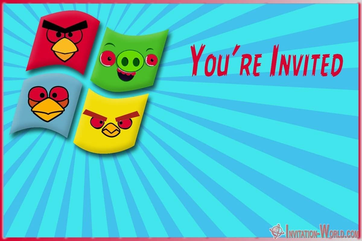 8 Free Angry Birds Invitation Templates Invitation World Bird Invitation Free Printable Invitations Templates Bird Theme Parties
