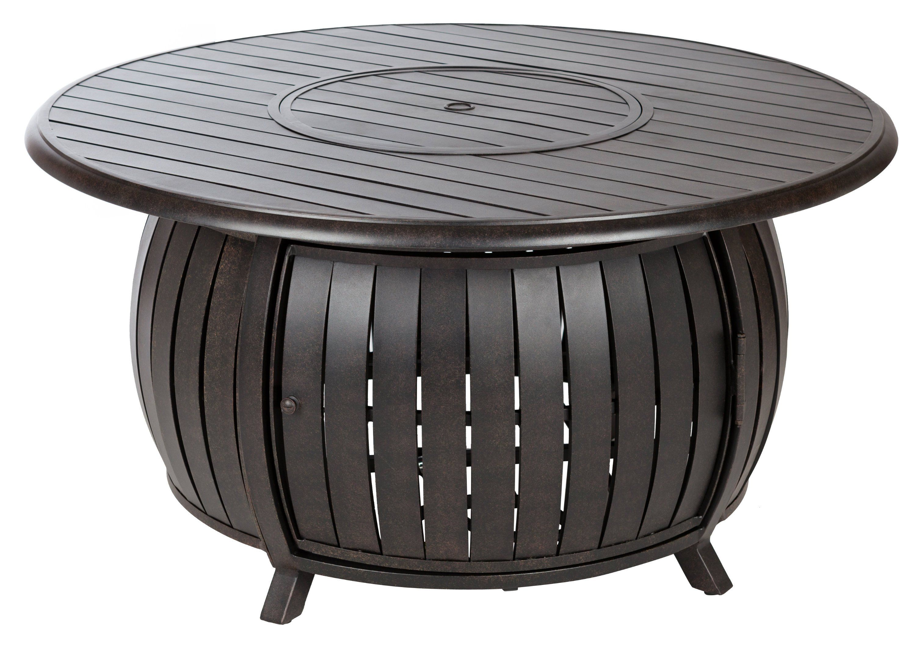 Grand Copper Extruded Aluminum Fire Pit - LPG | Round ... on For Living Lawrence Fire Pit id=40586
