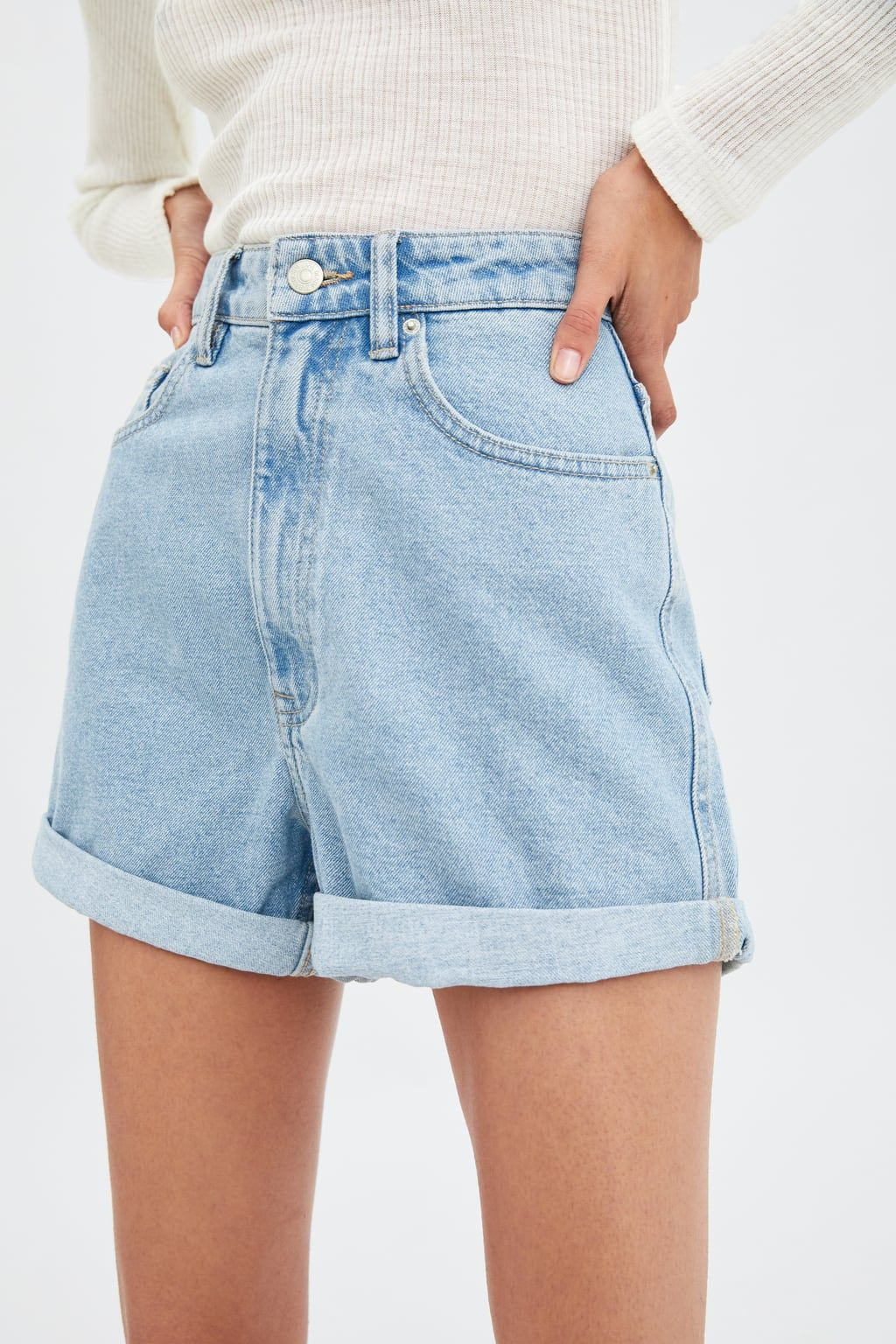 b7cfec96 AUTHENTIC DENIM MOM FIT SHORTS - Natural fibers-PRODUCT-JOIN LIFE | ZARA  United States