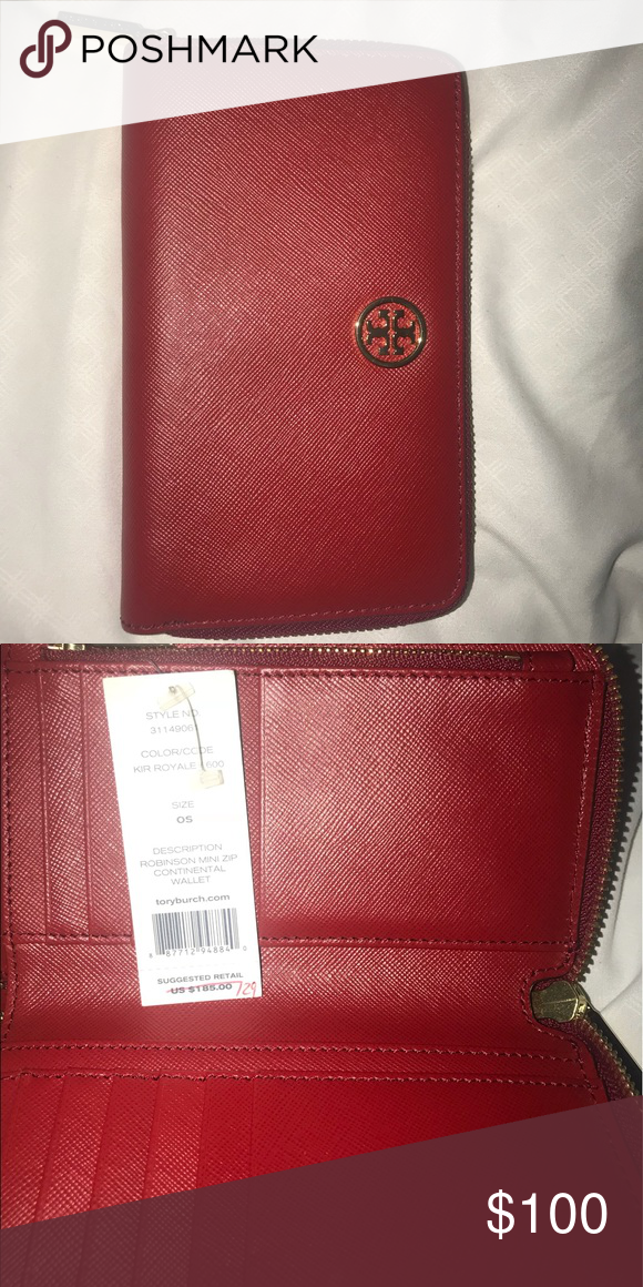 4a3fbfb977c Tory Burch Robinson Mini Zip Continental Wallet Tory Burch zipper wallet  with space for 12 card slots, coin holder, and 1 wide open pocket for bills.