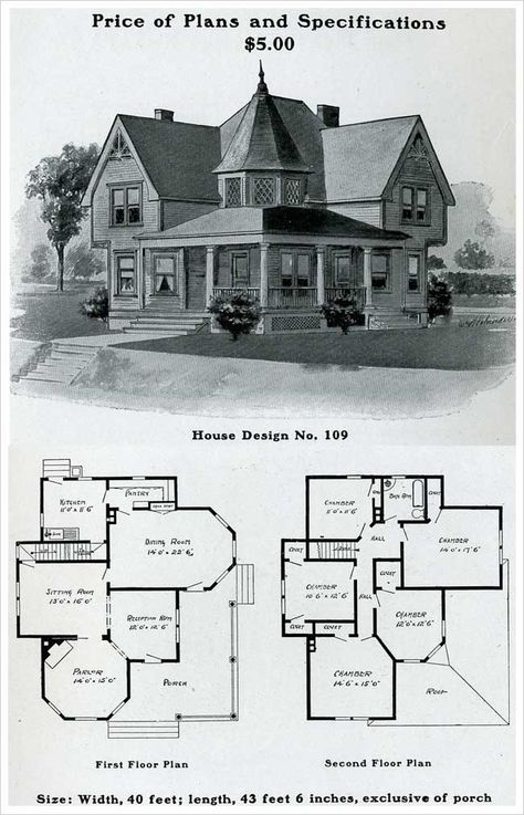 1903 Free Classic Queen Anne William Radford Victorian House Plans House Blueprints Queen Anne House