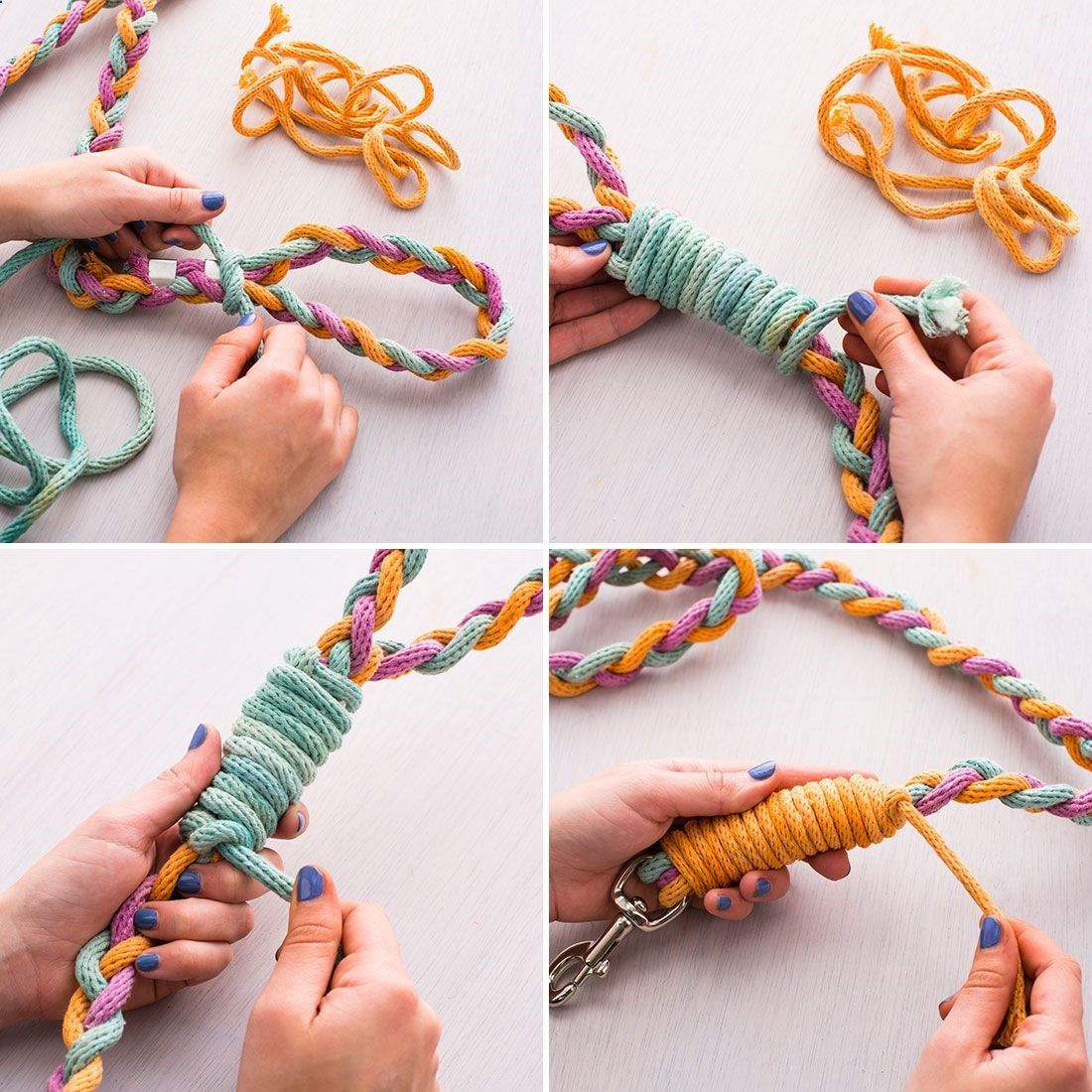 Skip the pet store and make your own dog leash. Visit Us