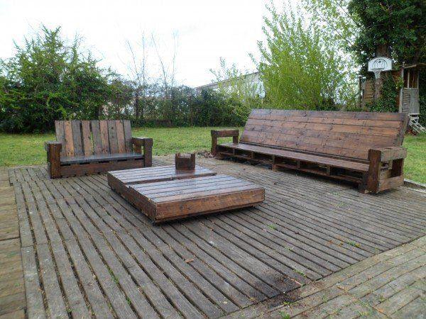 palettes en bois ides de bricolage de meubles mobilier de jardinmeuble - Mobilier De Jardin En Bois De Palette