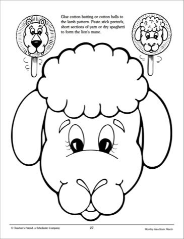 Template For A Lamb Paper Bag Puppet Yahoo Canada Image Search