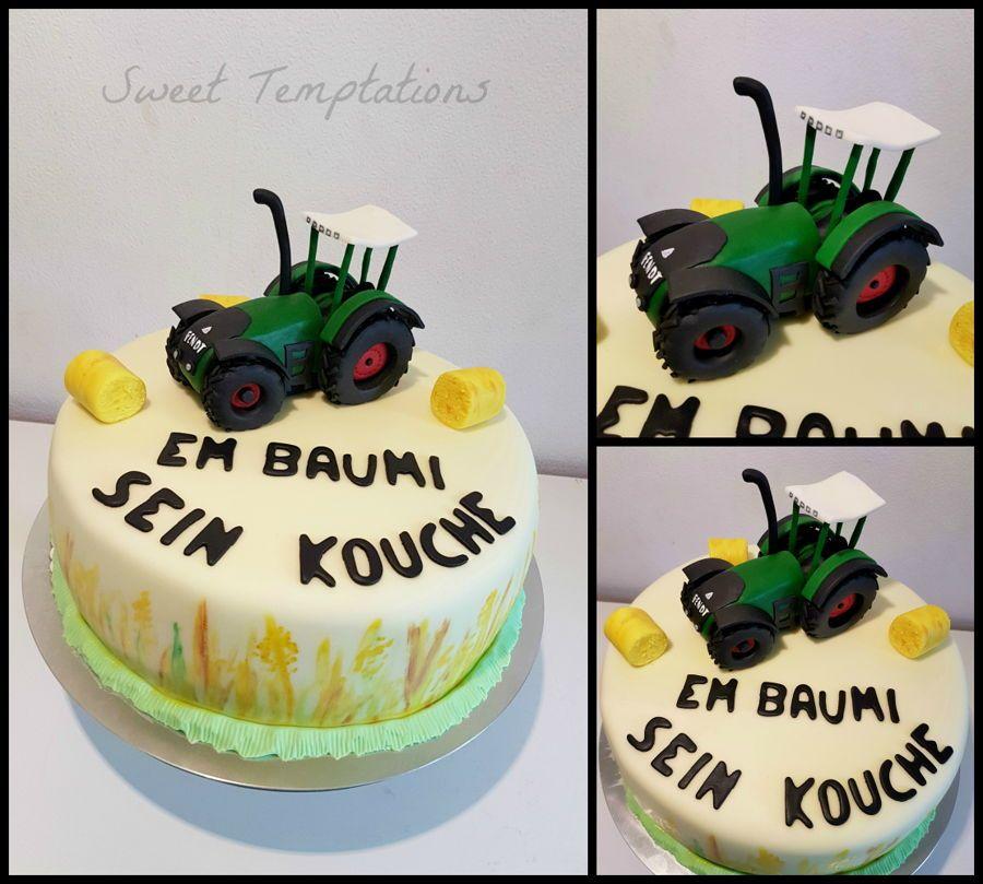 Farmer Cake Farmer Birthday Cake With A Fondant Tractor Fendt Vario Backen Fendt Fendt Traktor