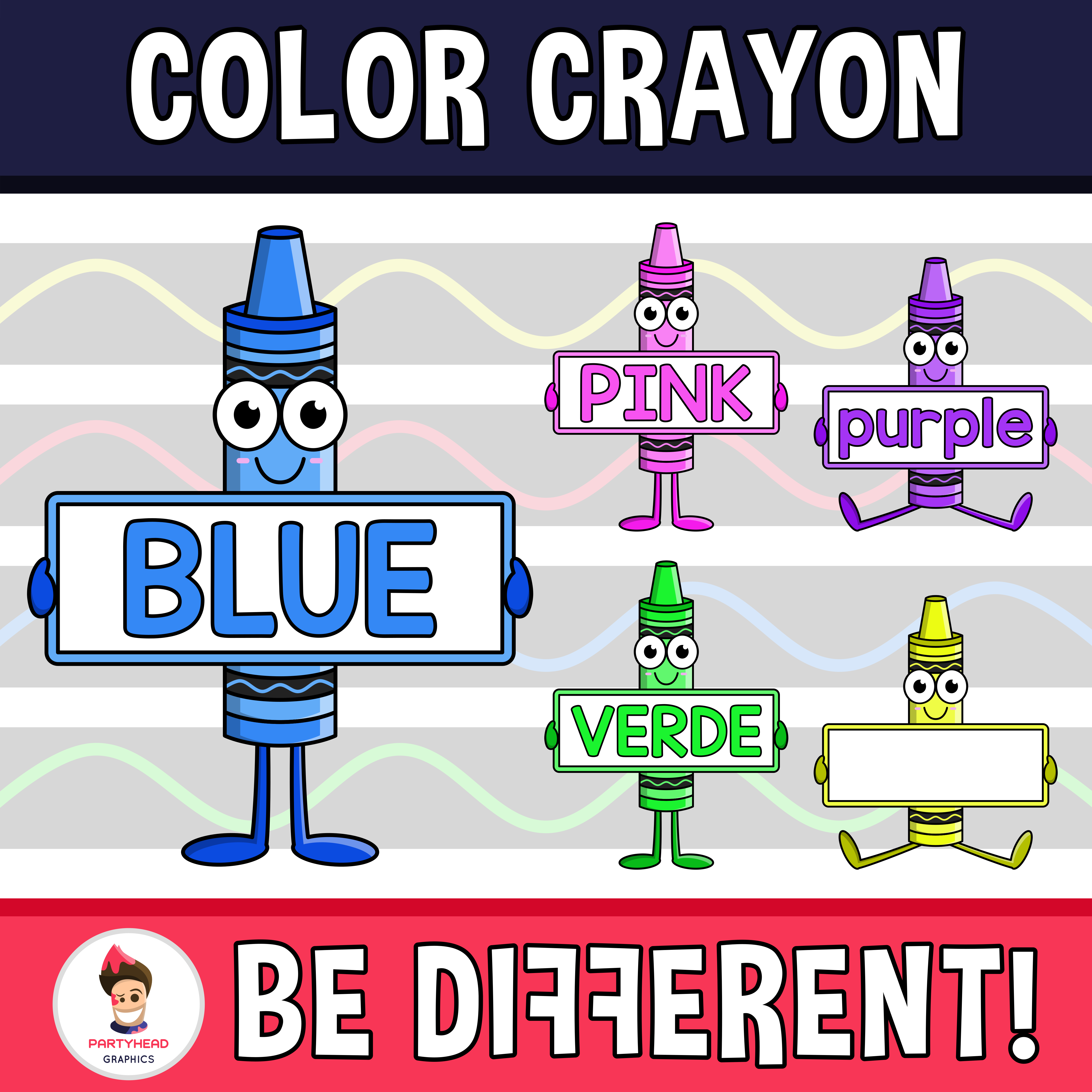 Color Crayon Clipart Upper Lower Span Eng