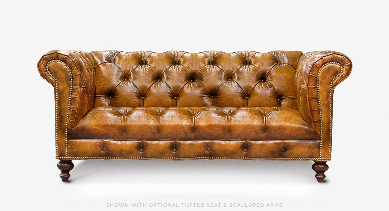Hemingway American Chesterfield Sofa With Vintage Cigar Leather Tufting Custom Chesterfield Sofa Chesterfield Sofa Chesterfield