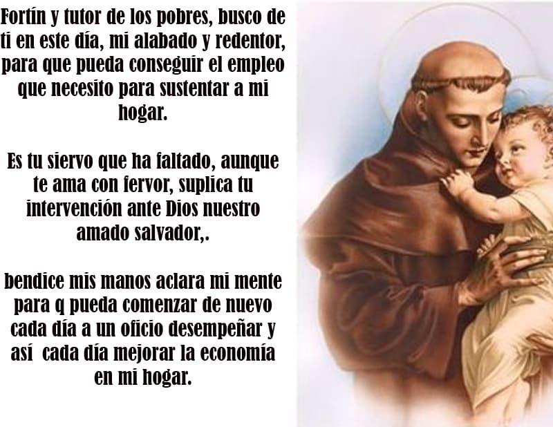 Oración A San Antonio Para Conseguir Trabajo Oracion A San Antonio Oracion Para El Amor Novena A San Antonio
