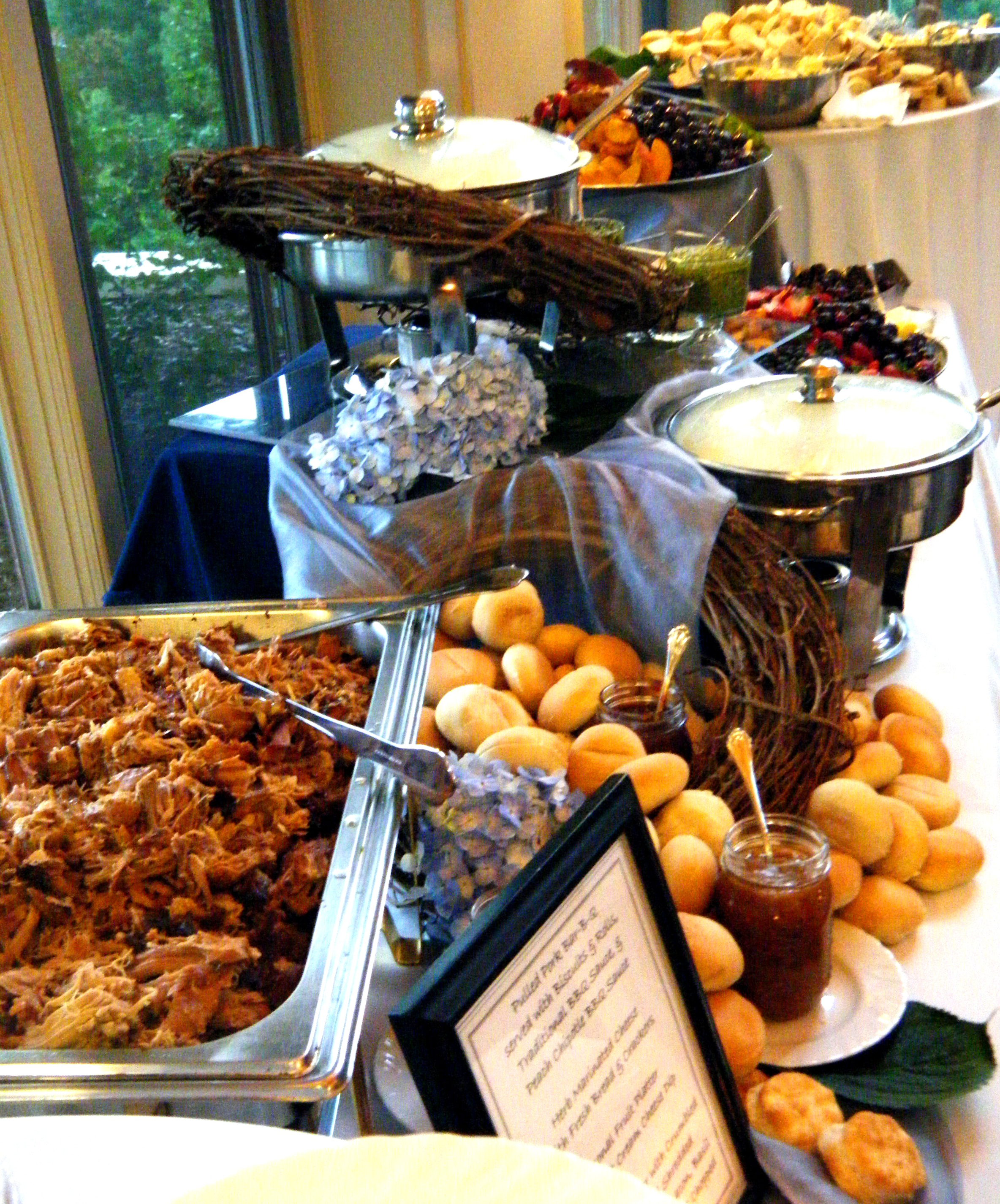 wedding buffet bbq, cuz you know all our freinds/family LOVE a BBQ ...