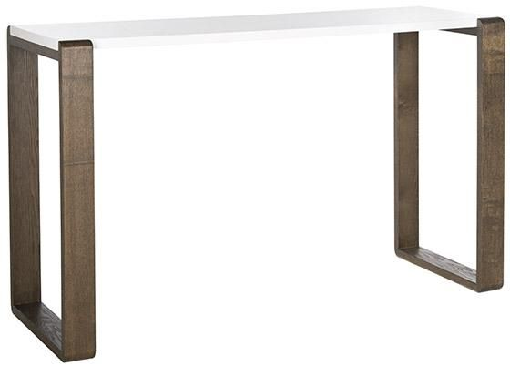 Benton Lacquer Console Table - TV console: Parsons table design, but a bit more interesting.