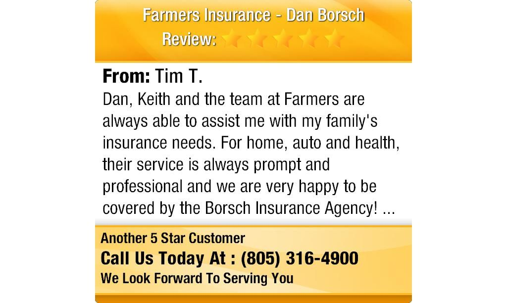 Dan, Keith and the team at Farmers are always able to