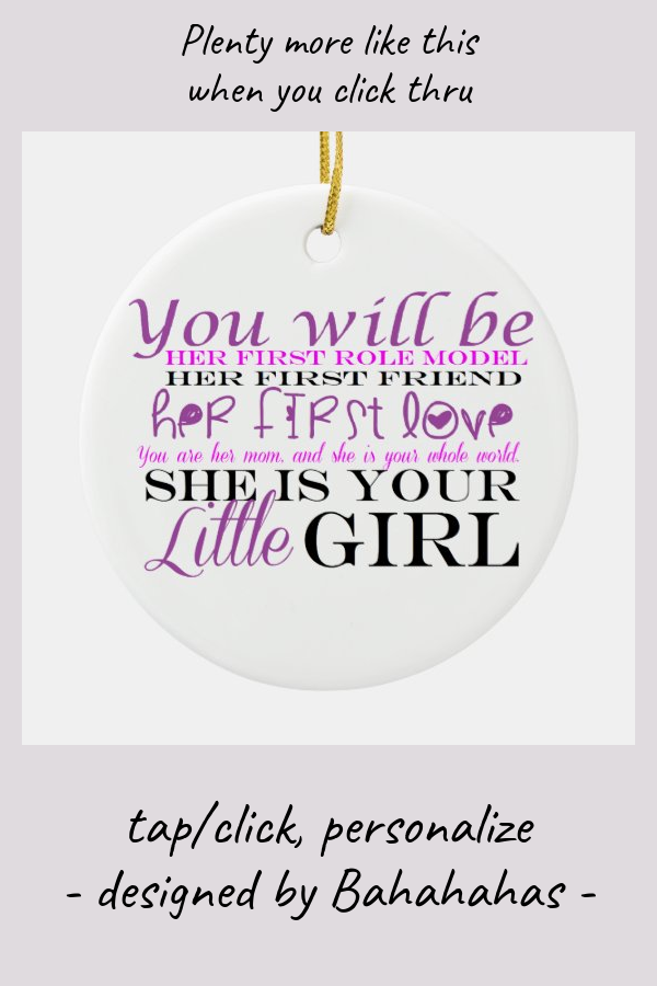 Mom and Daughter: Love Ceramic Ornament - tap/click to personalize and buy #CeramicOrnament #affiliatelink #its #girl #baby #shower