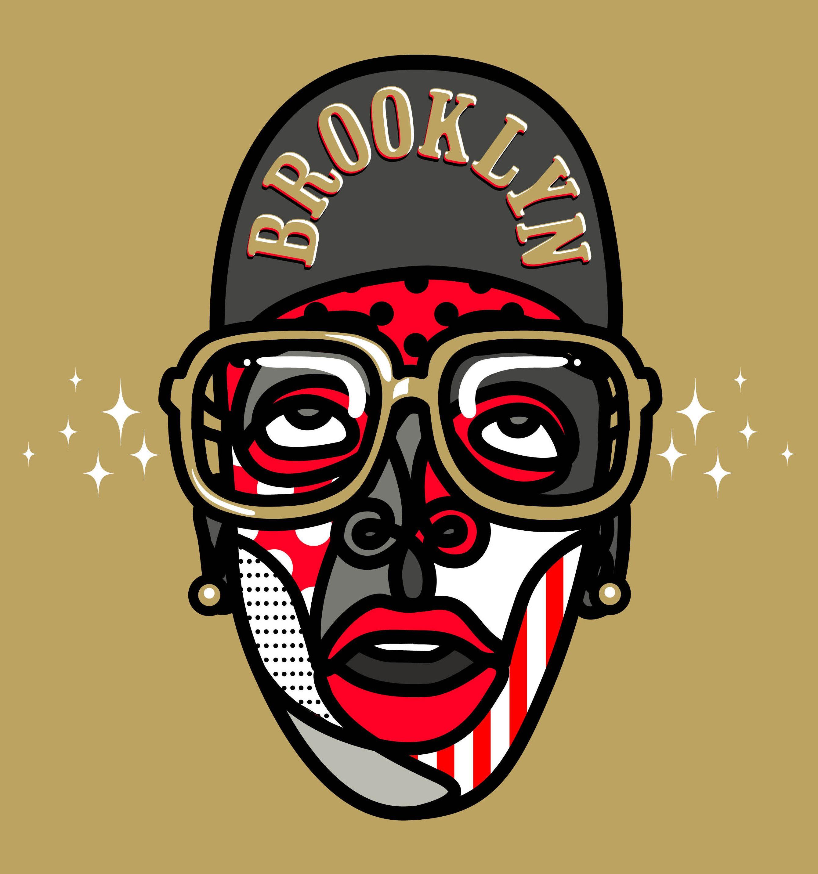 Mars Spike Lee illustration done in 2013 Brooklyn, Mars