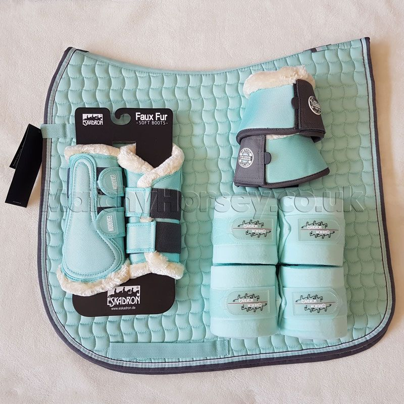 Eskadron Jade Dressage Saddlecloth Boots Bandages Matchy Set Classic Sports Ltd Spring Summer 2018 Horse Riding Clothes Horse Boots Equestrian Outfits
