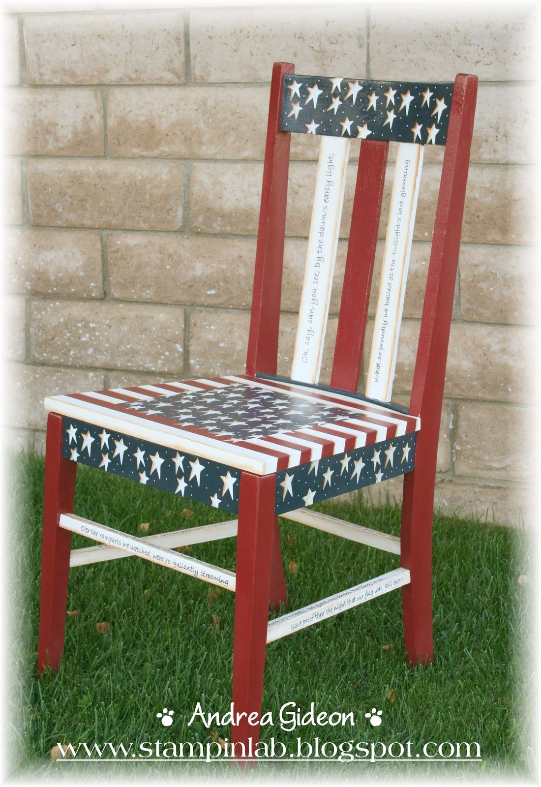 Miraculous 06 04 2016 Red White And Blue Chair Stampinlab My Hand Short Links Chair Design For Home Short Linksinfo