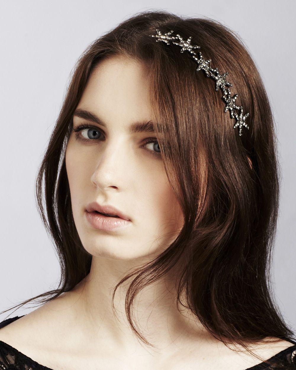 cf4dbfb2e2dc Jennifer Behr Estee Circlet    Swarovski crystal star headpiece ...