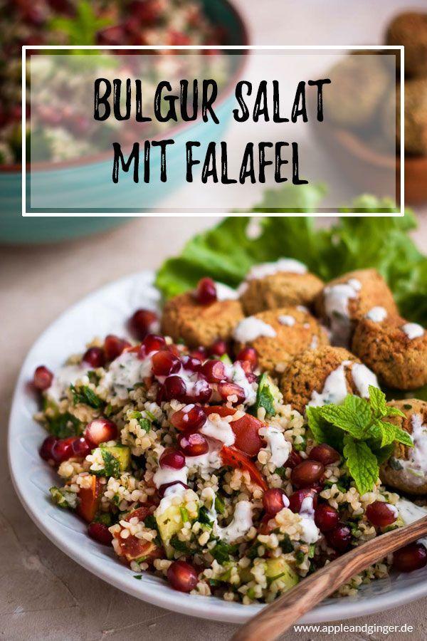 Schnelles 30 Minuten Tabouleh mit Falafel | Apple and Ginger
