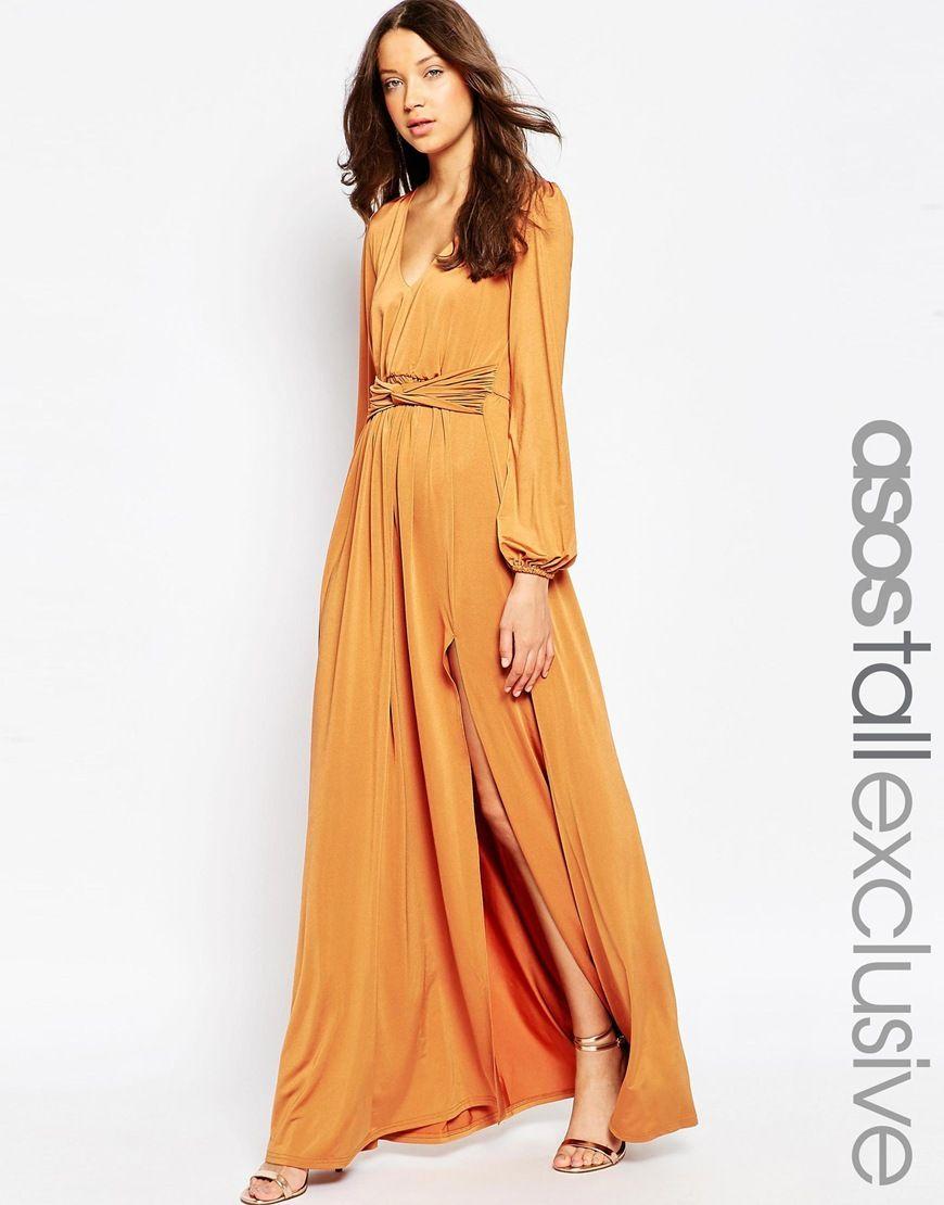 Asos Tall 70 S Plunge Maxi Dress At Asos Com 70s Fashion Dresses Maxi Dress Tall Maxi Dress [ 1110 x 870 Pixel ]