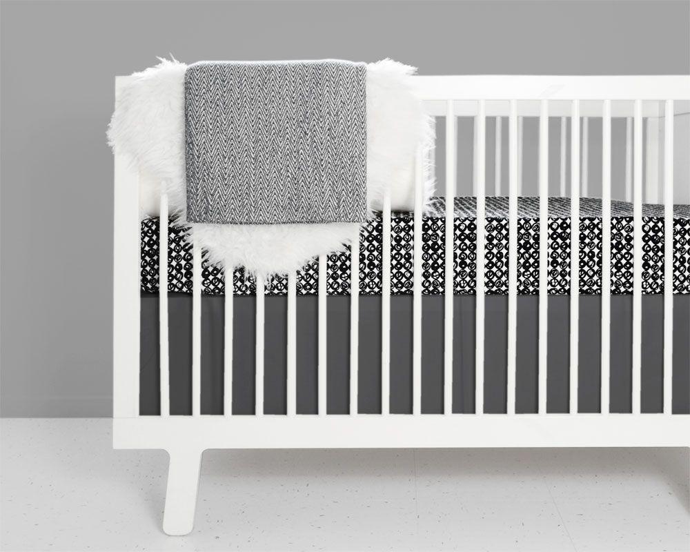 Swirl Crib Bedding Set Black And White White Crib Bedding