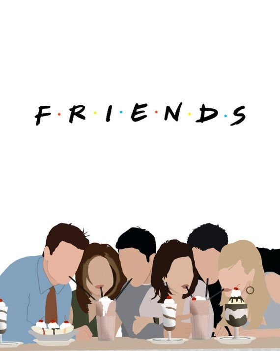 Friends Cast Digital Download, Printable, Typography, Wall Art, Home Decor, For Him, For Her