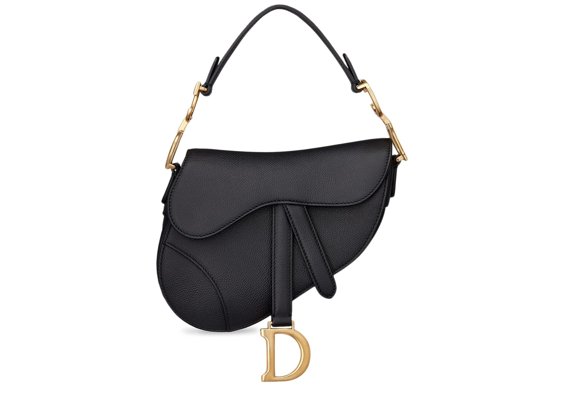 Pre Owned Dior Saddle Bag Calfskin Mini Black Modesens Dior Saddle Bag Mini Saddle Bags Black Saddle Bag