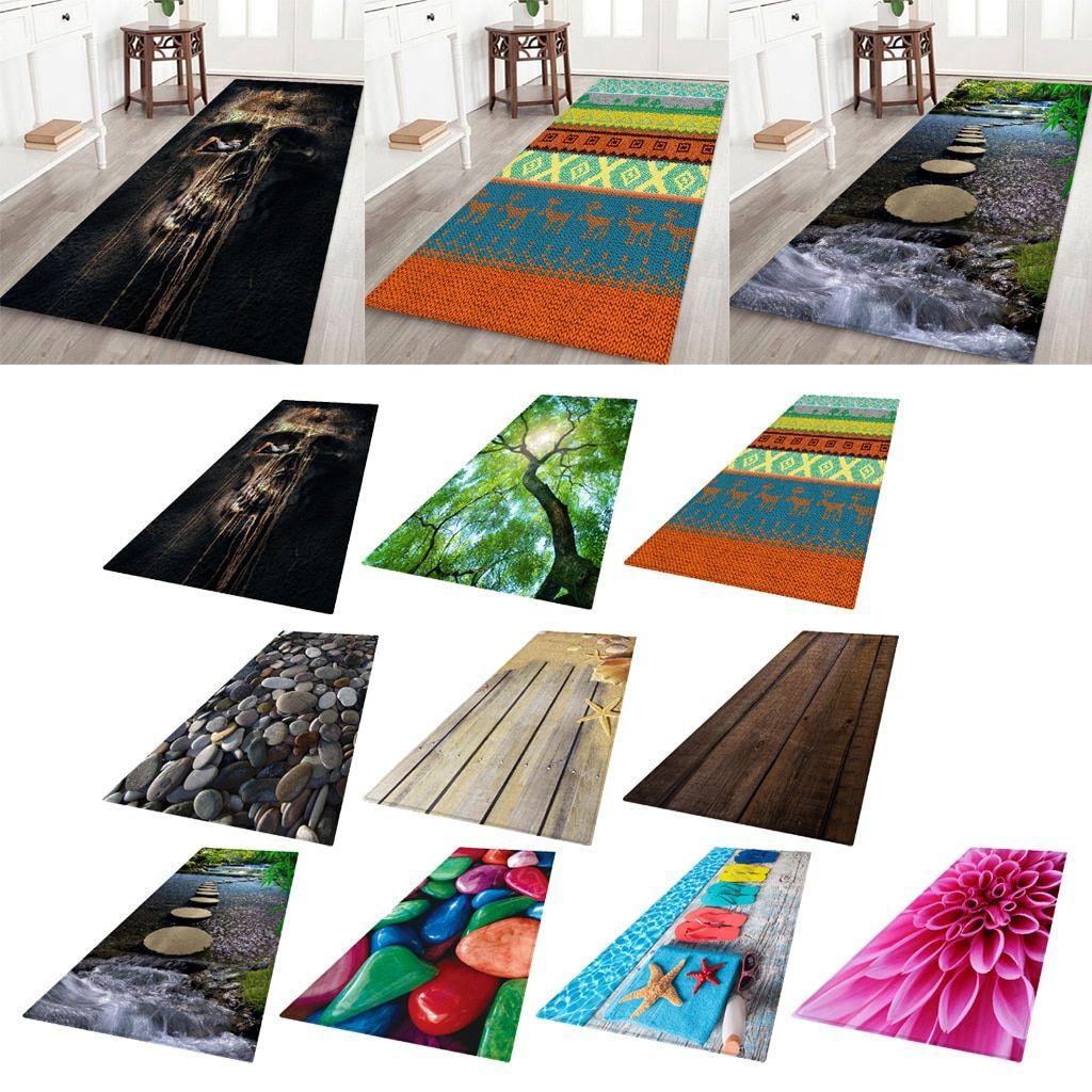 Details about  /Non-woven Cloth Floor Mat Carpet Bedside Area Rugs Runner 3D Effect Patterns