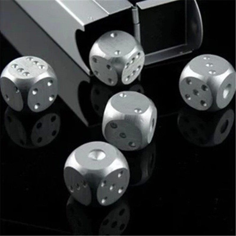 Top 30 Charming French Kitchen Decor Inspirational Ideas: 5 Piece Stainless Steel Cooling Stone Dice Set