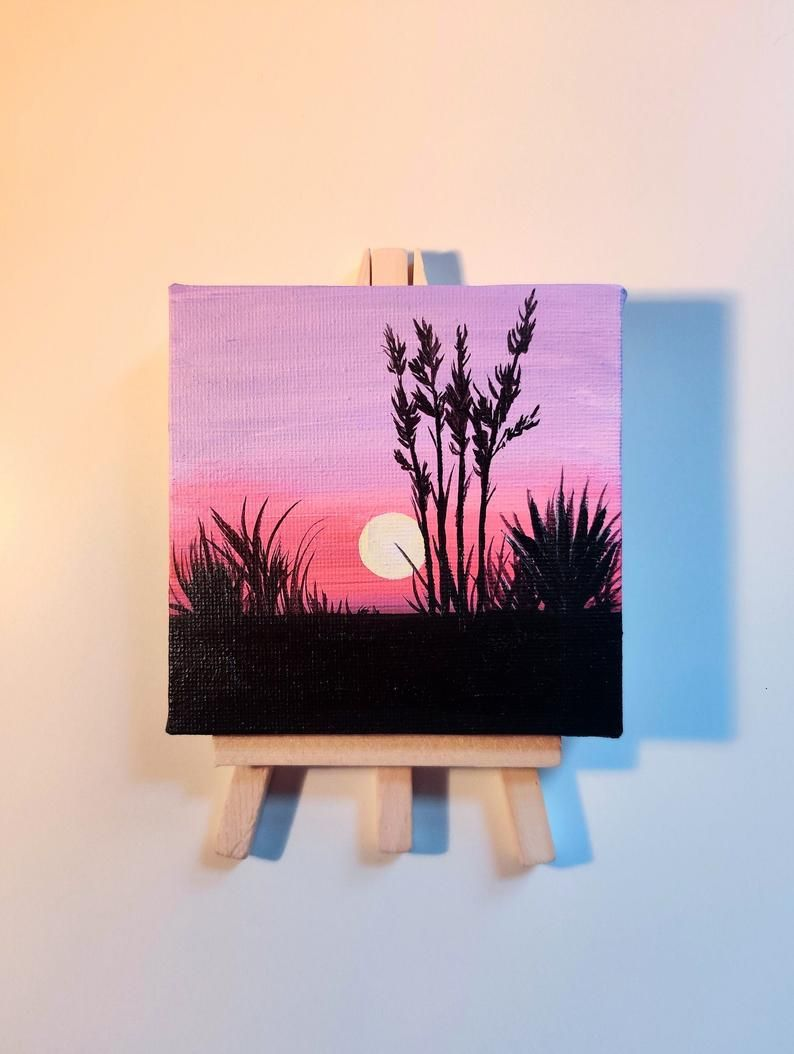 Mini Canvas Pink /& Purple
