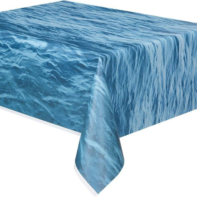 Water Print Plastic Table Cover (Each)   Low Priced Themed Tableware  Supplies