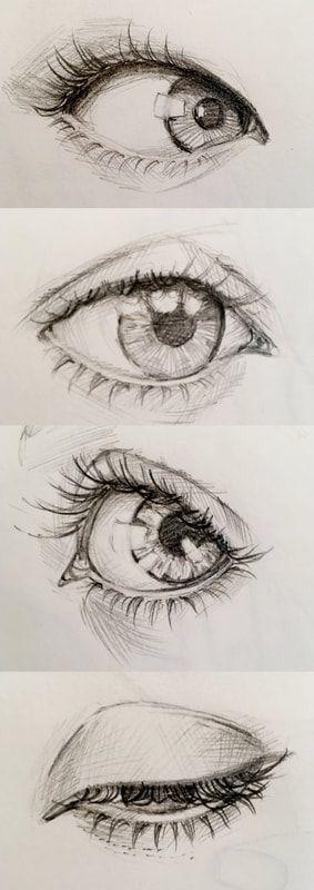 S A R A L E X I Cara Menggambar Gambar Mata Gambar Realistis