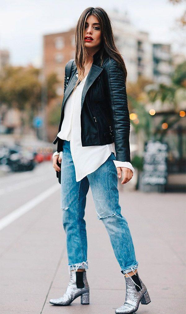 b5a9a9a1c Como inserir metalizado nos looks | Gems | Fashion, Glitter boots e ...