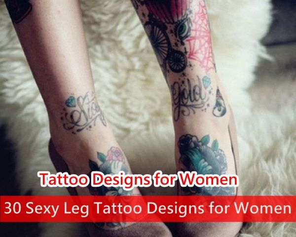 Sexy Leg Tattoo Designs For Women
