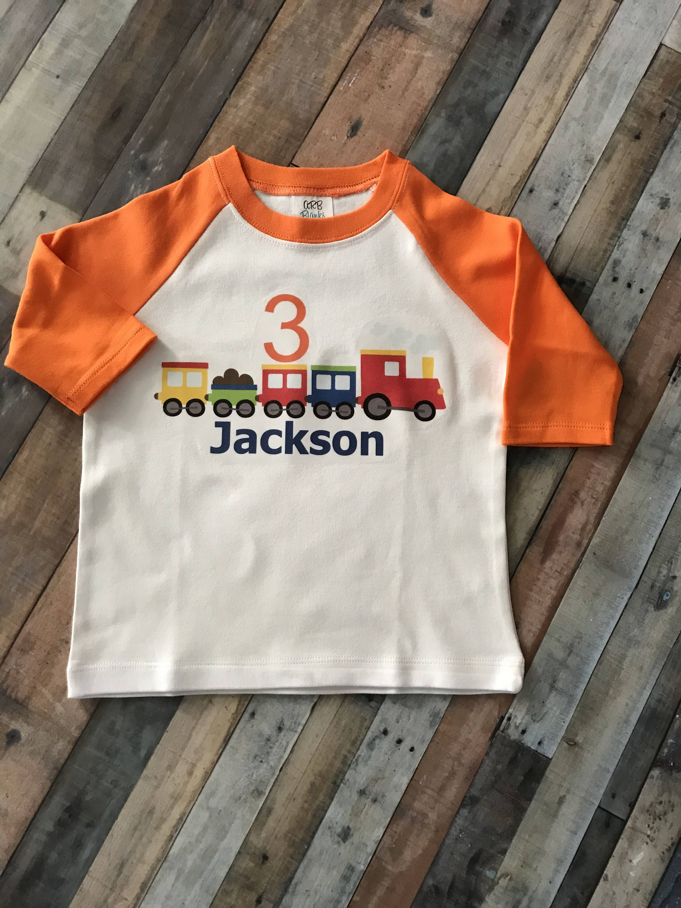 Personalized Boys Train Birthday Shirt Toddler By CustomCutiesByMimi On