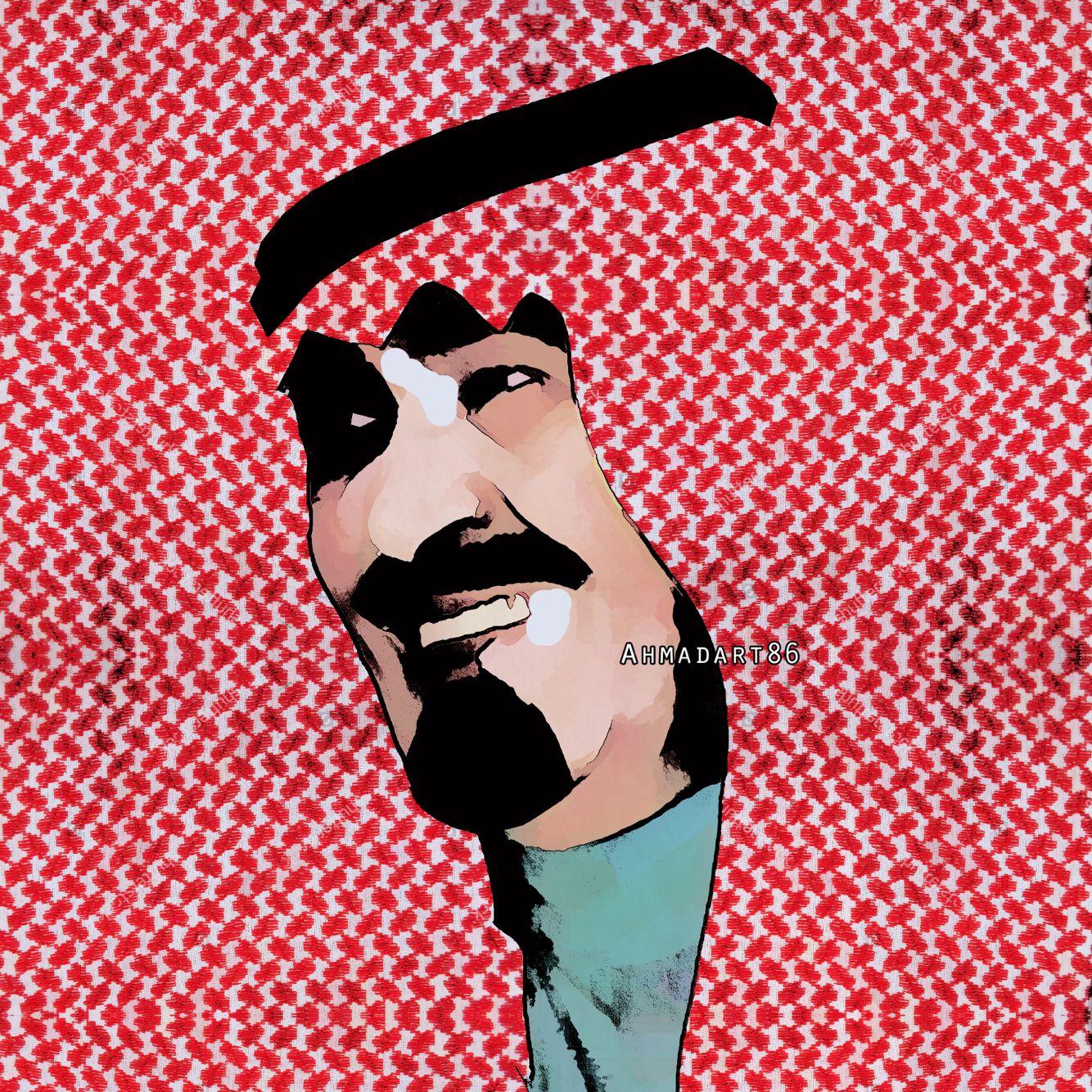 الملك عبدالله بن عبدالعزيز King Abdullah Cowboy Art Pop Art Cute Disney Wallpaper