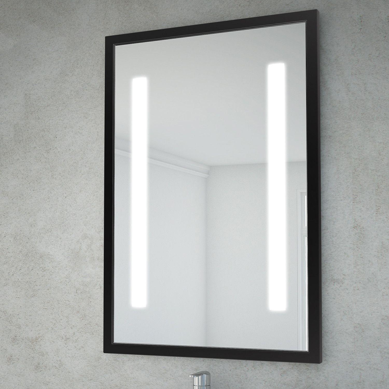 Retro Collection Led Bathroom Mirror 23 X 35 Black Led Mirror Bathroom Bathroom Mirror Mirror