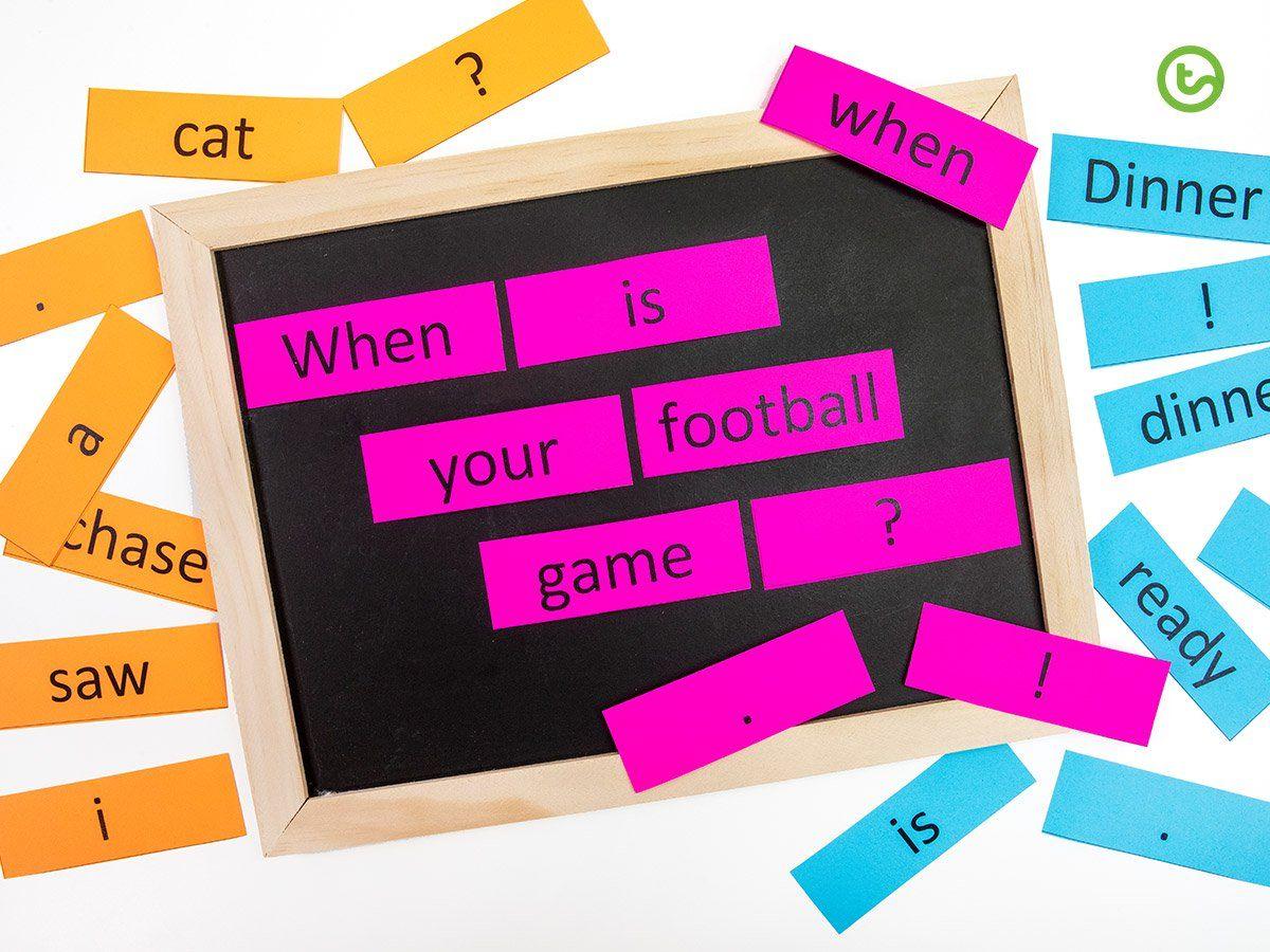 Sentence Saga Literacy Activity In
