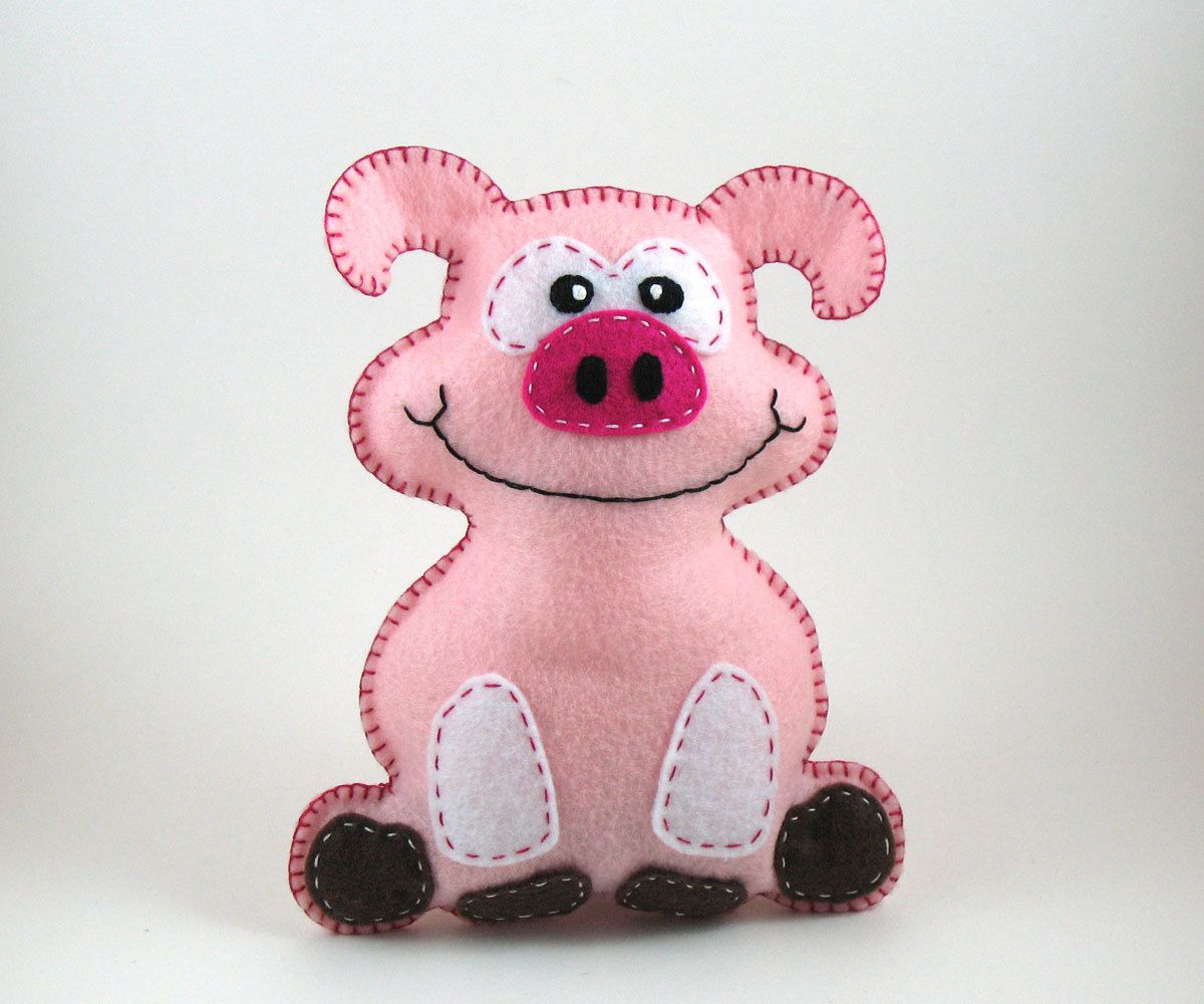 Fletcher the Pig Hand Sewing PATTERN - Make Your Own Hand ...