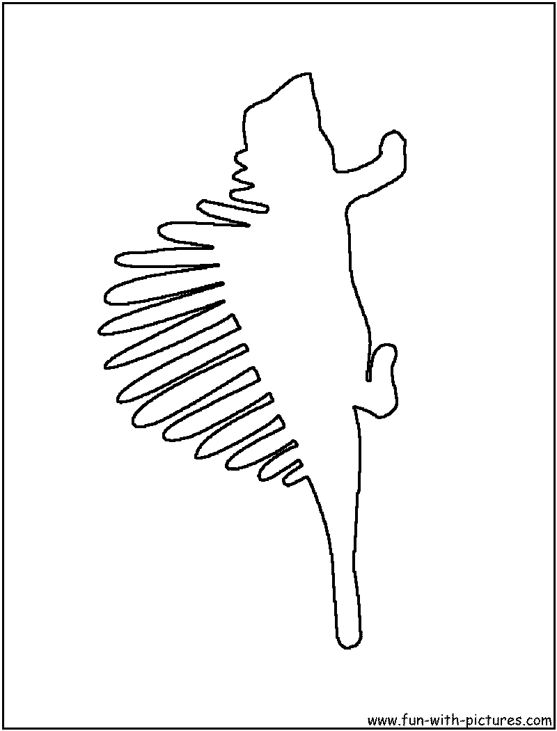 dinosaur outline coloring pages - photo#36
