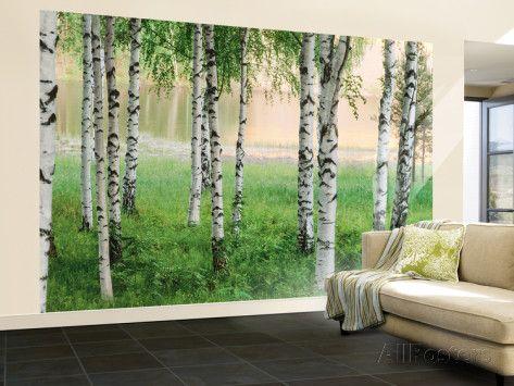 Forest Wall Art nordic forest wall mural | wallpaper murals, mural art and wall murals