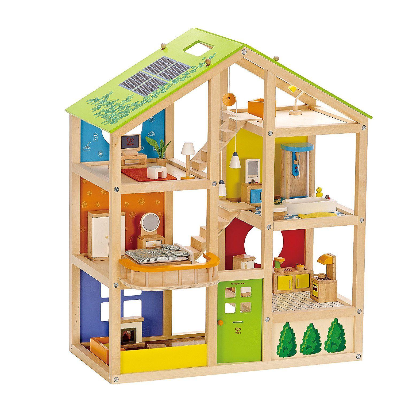 All Seasons Kids Wooden Dollhouse by Hape