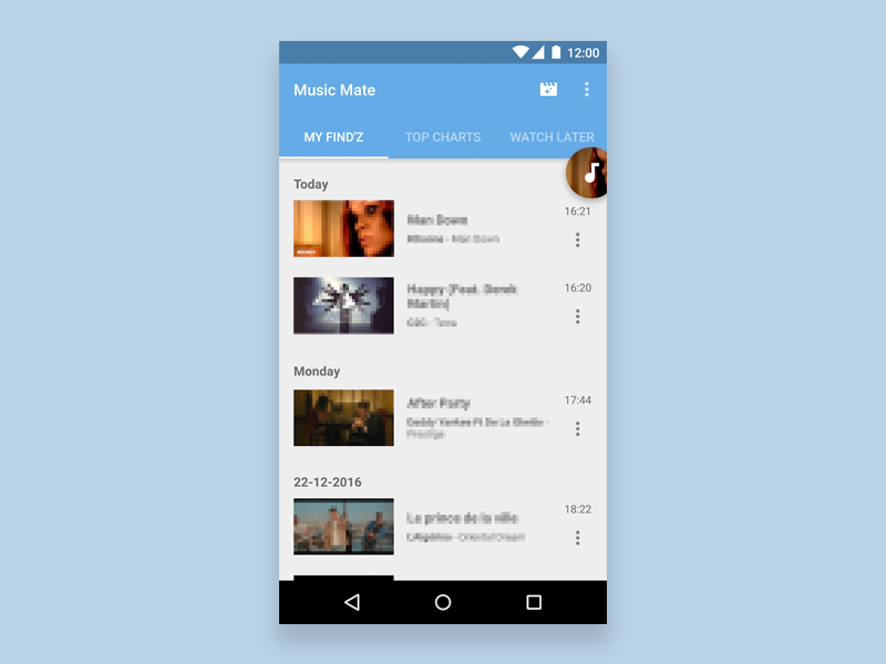 Find music videos Android App