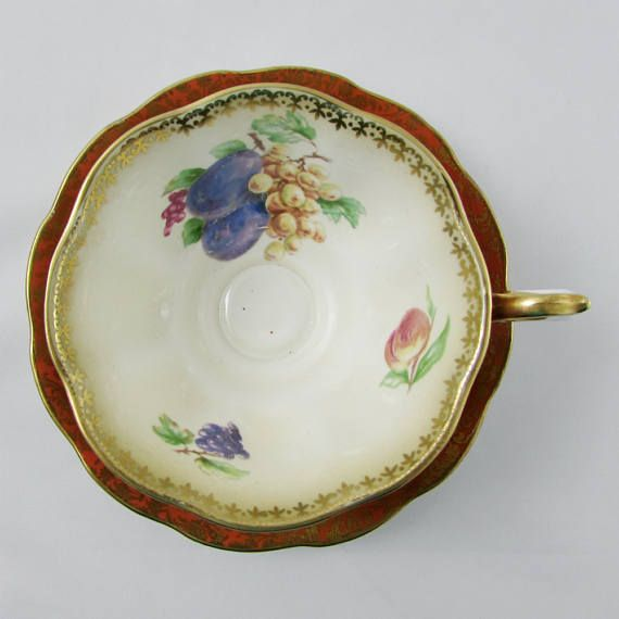 Royal Albert Orange And Gold Chintz Tea Cup And Saucer Chatsworth