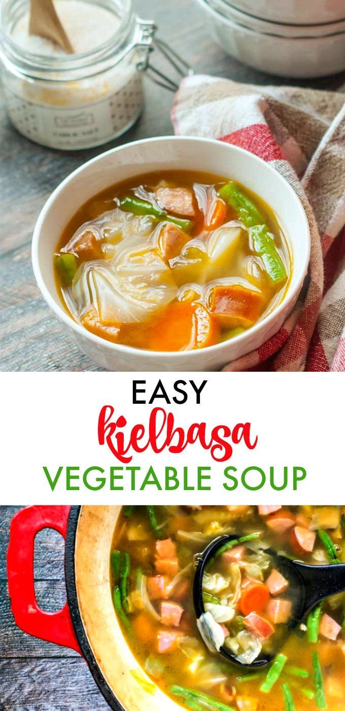This easy kielbasa vegetable soup will keep you warm on a cold day. Simple ingredientsbut full of flavor. Only 6.9g net carbs per serving.