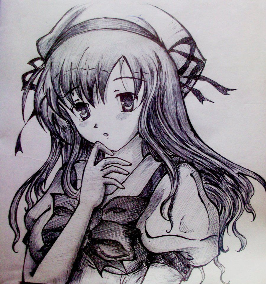 Cute love drawings cute anime love drawings anime girl for Cute sketches for your girlfriend
